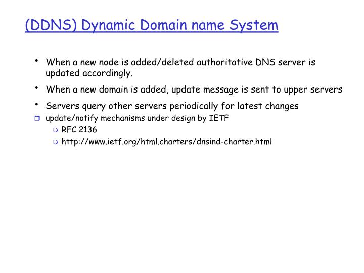 (DDNS) Dynamic Domain name System