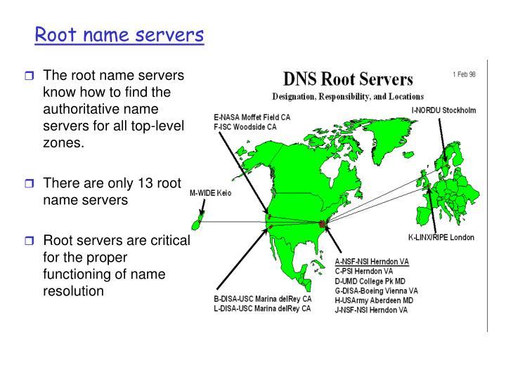 Root name servers