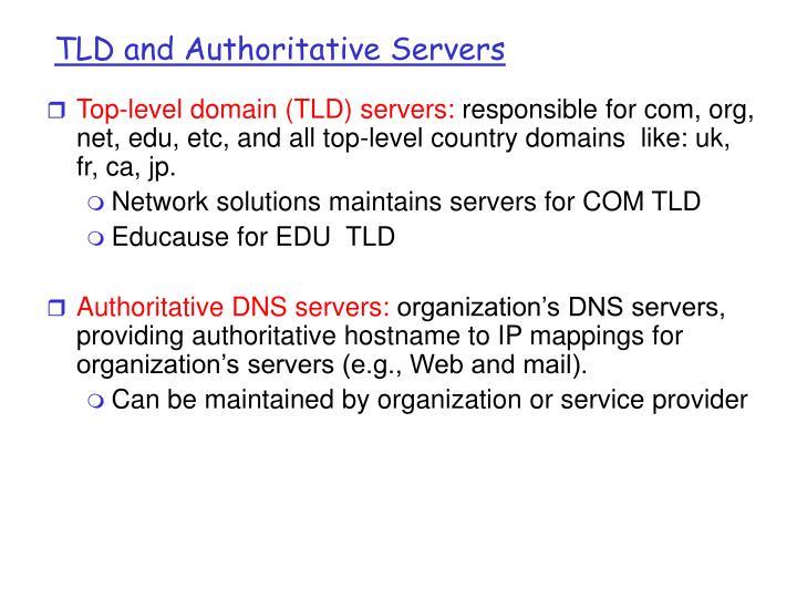 TLD and Authoritative Servers