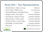derby cha your representatives