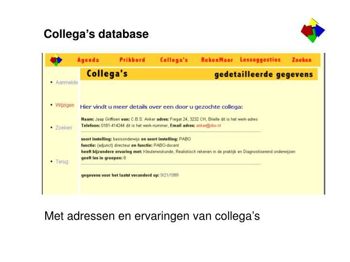 Collega's database