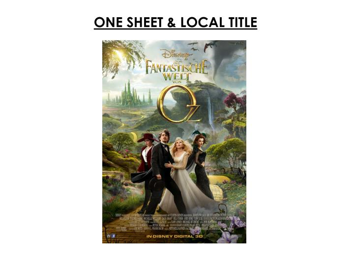 ONE SHEET & LOCAL TITLE