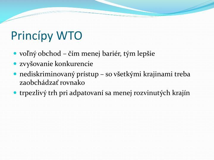 Princípy WTO