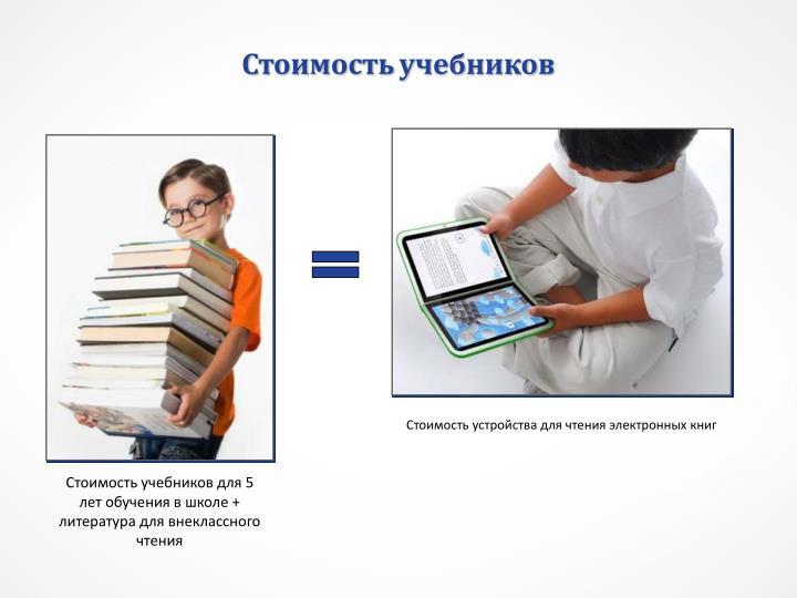 Стоимость учебников