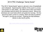 2014 frc challenge aerial assist