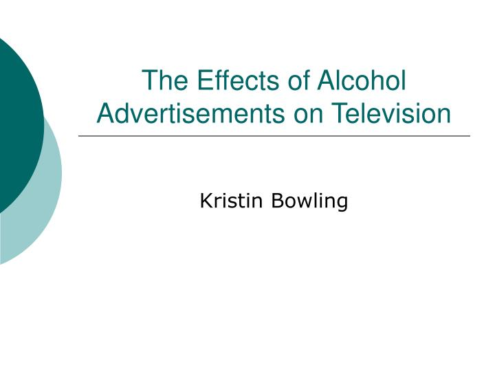 the effects of alcohol advertisements on television n.
