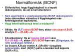 norm lform k bcnf5