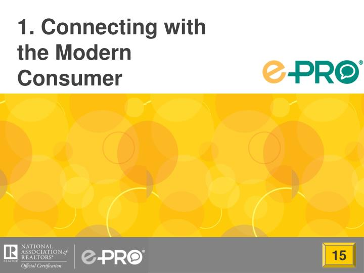1 connecting with the modern consumer