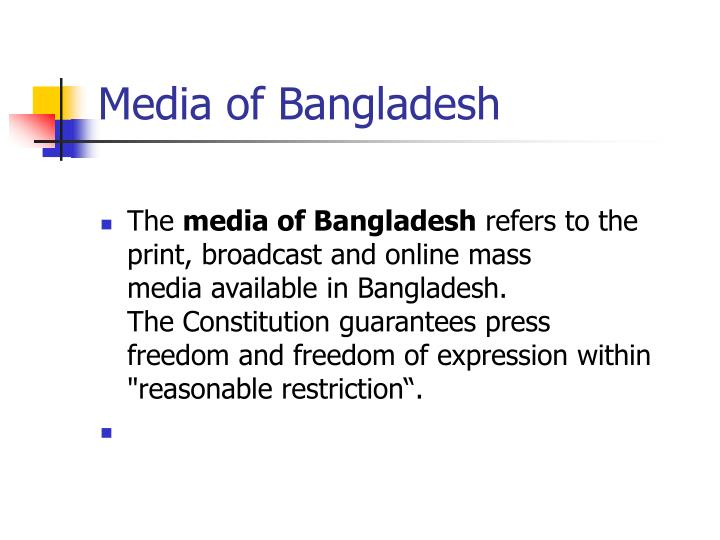 Media of Bangladesh