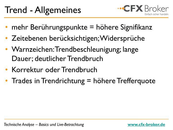 Trend - Allgemeines