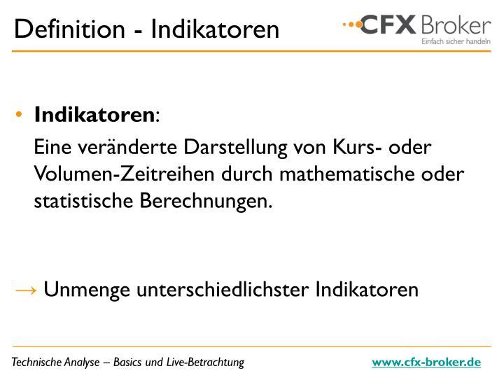 Definition - Indikatoren