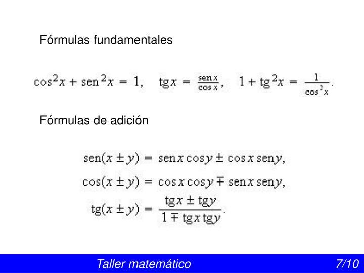 Fórmulas fundamentales