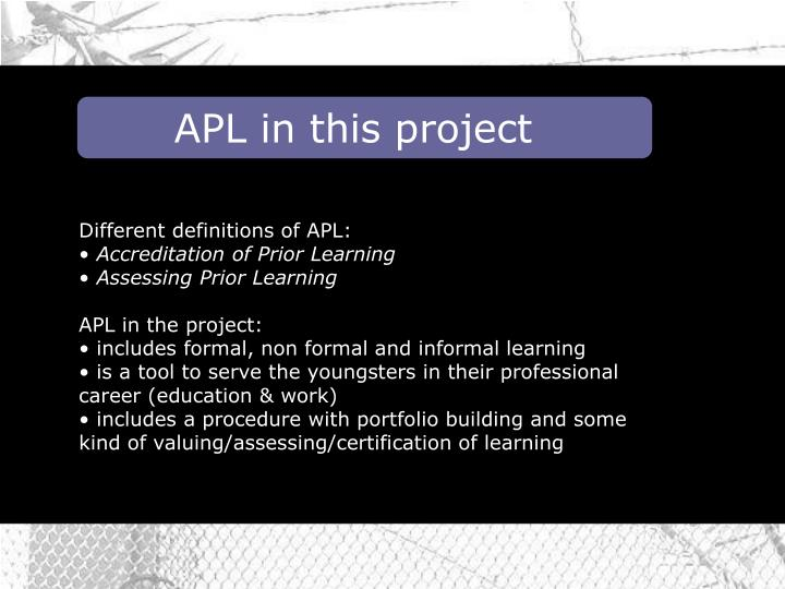APL in this project