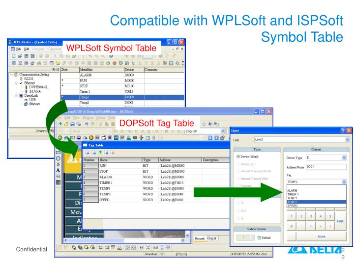 Compatible with WPLSoft and ISPSoft Symbol Table