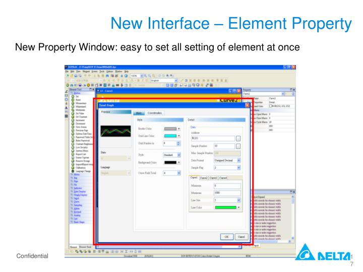 New Interface – Element Property