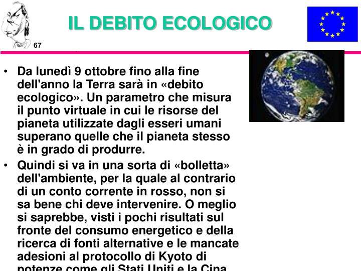 IL DEBITO ECOLOGICO