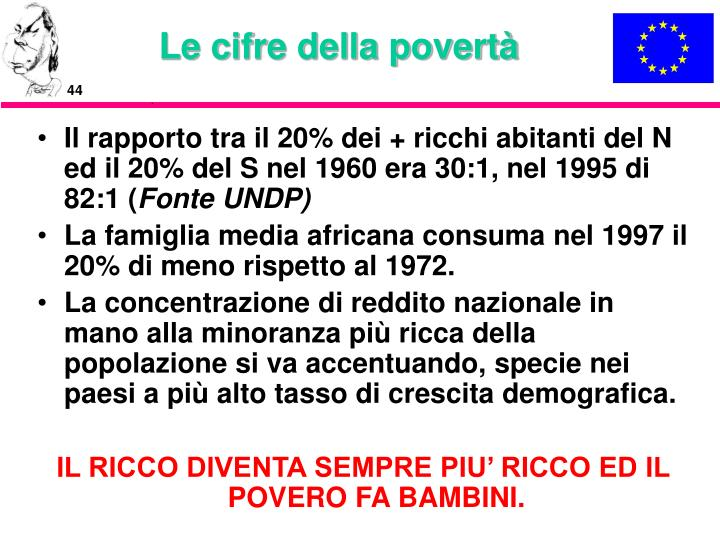 Le cifre della povertà