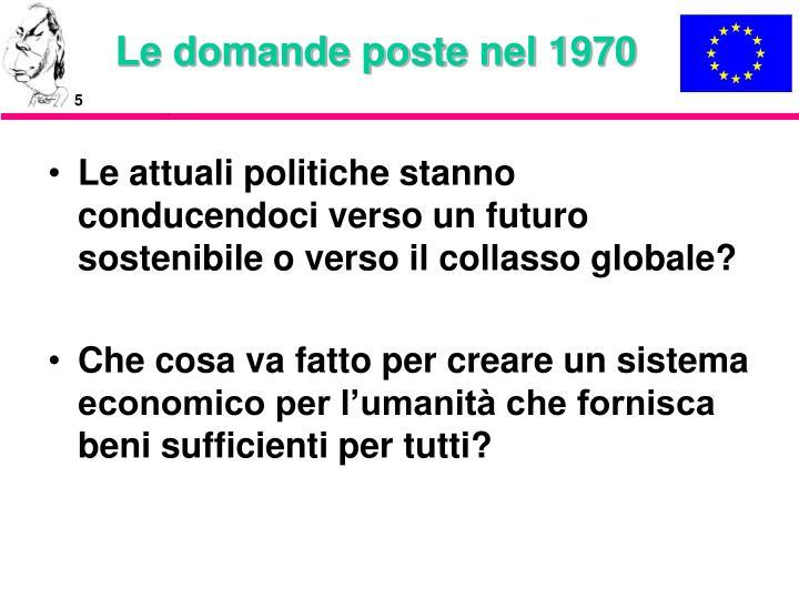 Le domande poste nel 1970