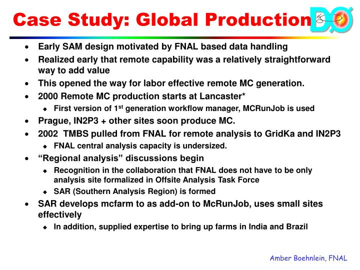 Case Study: Global Production
