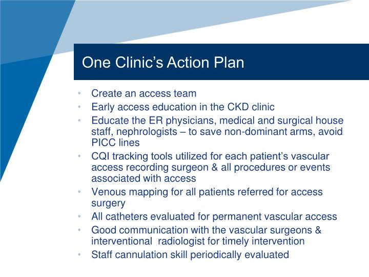 One Clinic's Action Plan