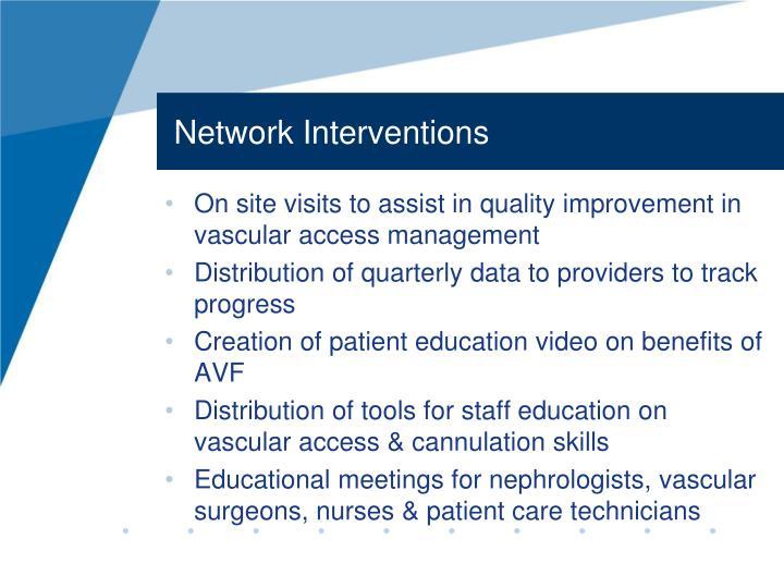 Network Interventions