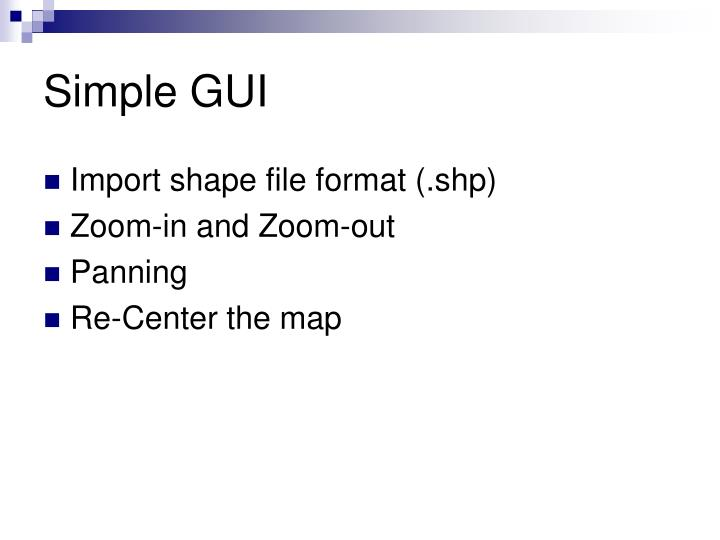 Simple GUI