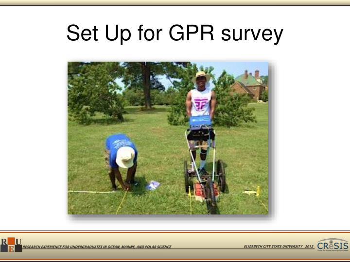 Set Up for GPR survey