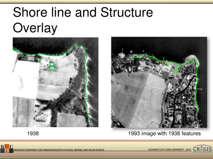 Shore line and Structure Overlay