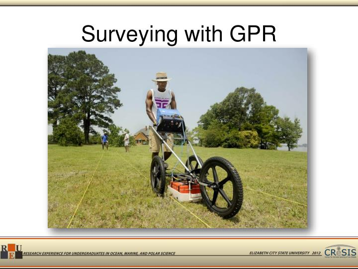 Surveying with GPR