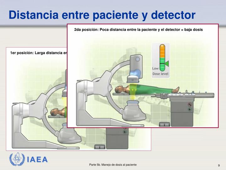 Distancia entre paciente y detector