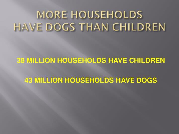 MORE HOUSEHOLDS