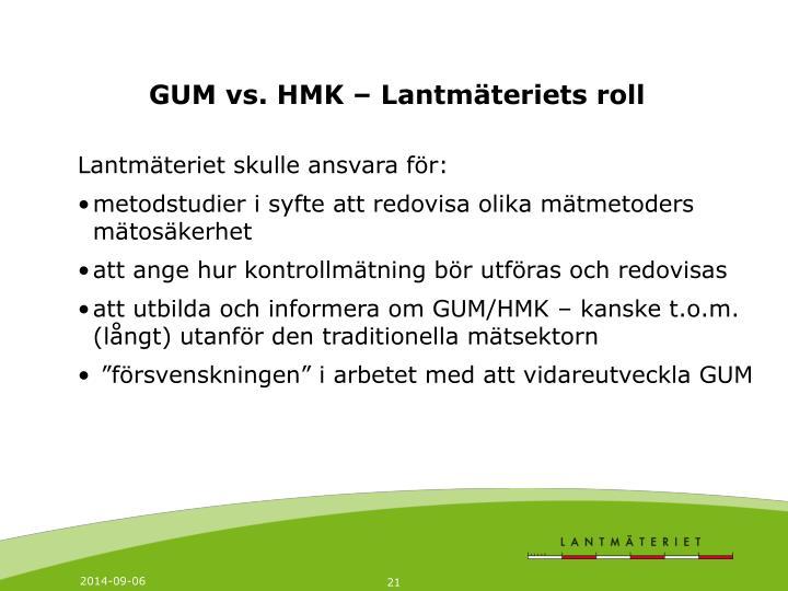 GUM vs. HMK – Lantmäteriets roll