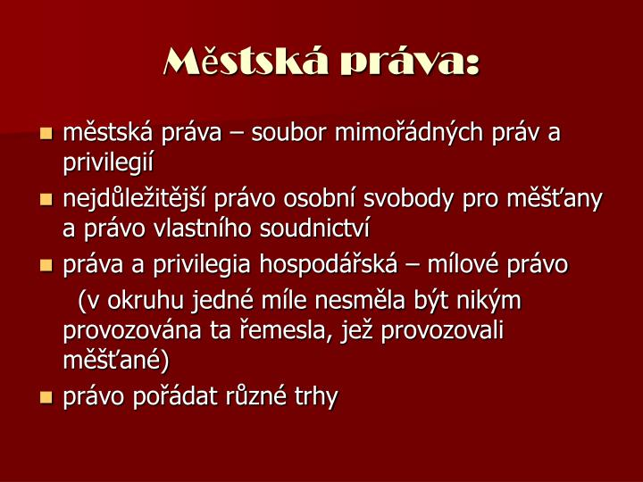 Městská práva: