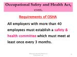 occupational safety and health act cont4