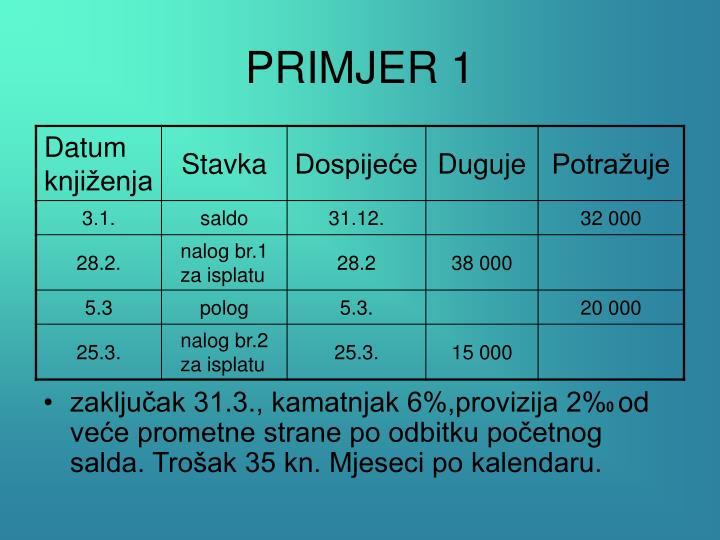 Primjer 1