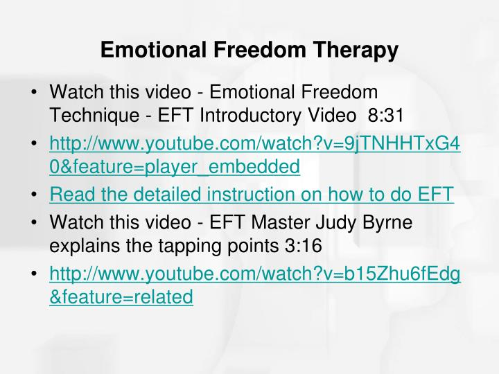 Emotional Freedom Therapy