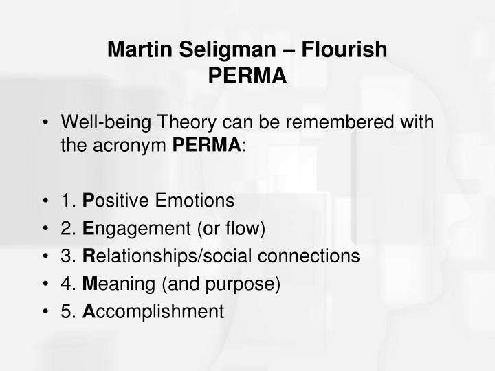 Martin Seligman – Flourish
