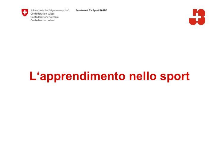 L'apprendimento nello sport
