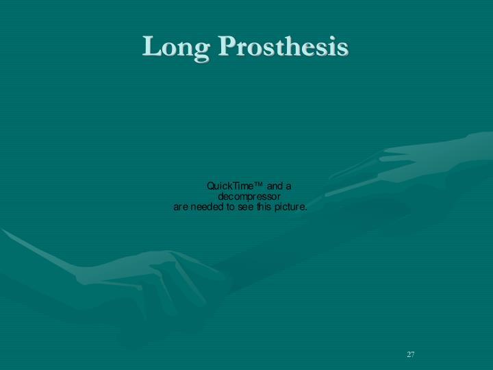 Long Prosthesis