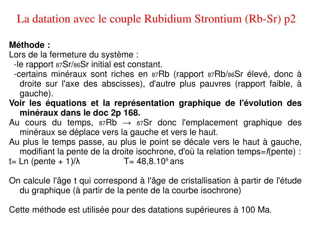 méthode de datation du rubidium strontium culture russe vs culture américaine datant