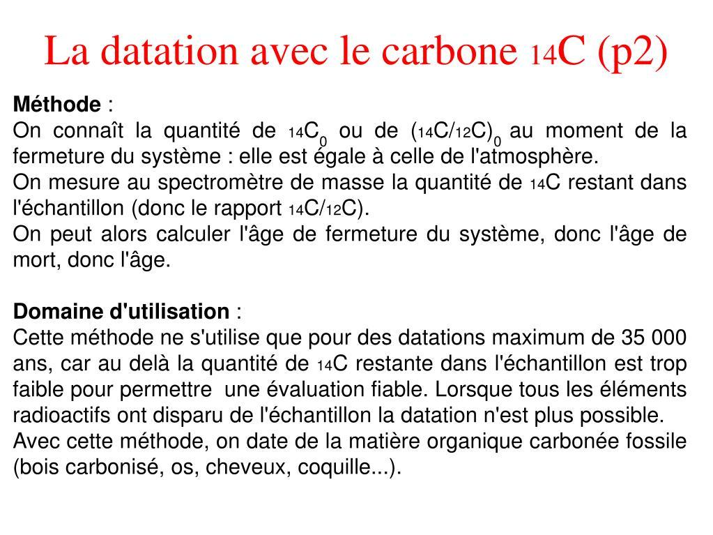 radioactifs datation Slide