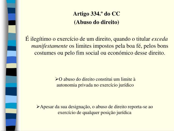Artigo 334.º do CC