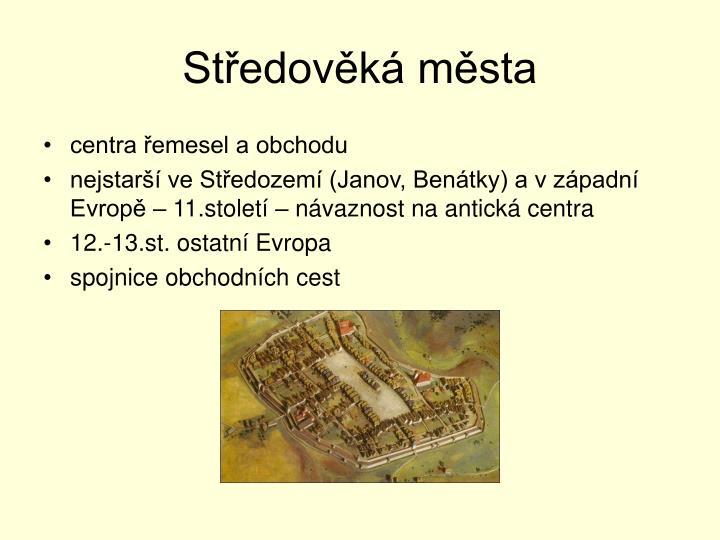 Středověká města