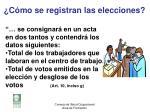 c mo se registran las elecciones