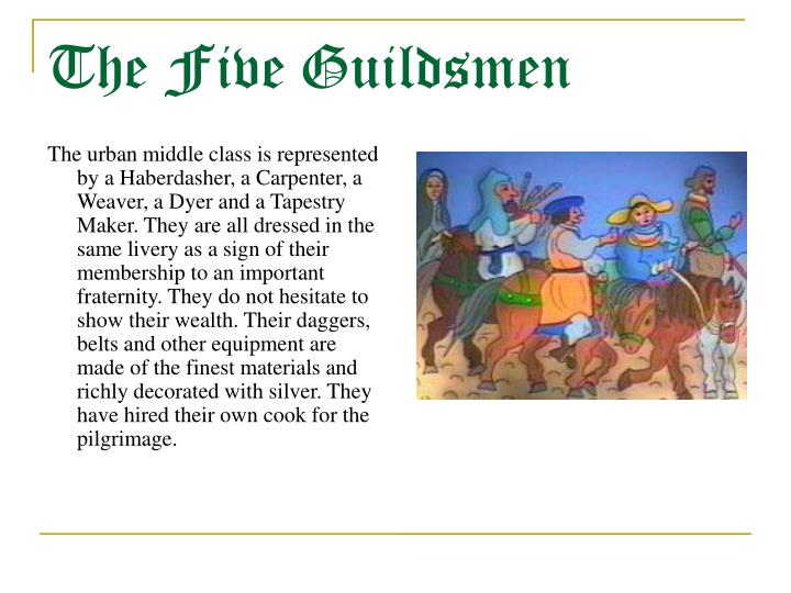 the guildsmen canterbury tales