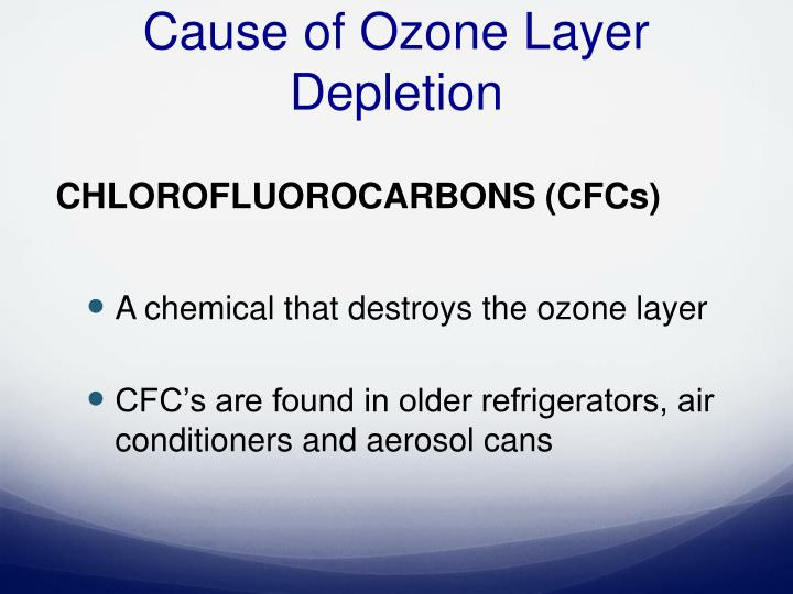 the chemical content and depletion of the ozone later The ozone layer, 12 to 19 miles above earth, is the region of the atmosphere where the physical-chemical conditions are most favorable for the ozone-oxygen cycle when a molecule such as oxygen or ozone is dissociated, the molecular pieces fly apart at high velocity, instantly converting all the bond energy into kinetic energy of translation.
