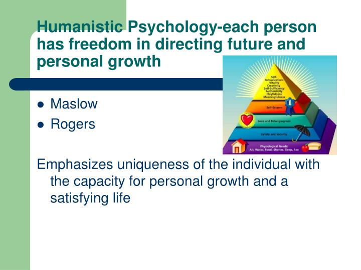 humanistic psychology Expand your clinical skills to include a growth-oriented perspective and learn to assist patients with psychological distress through the ma psychology: existential, humanistic, and transpersonal psychology specialization program at saybrook.