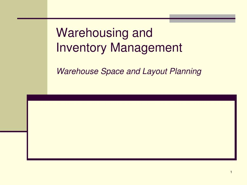 Warehousing and inventory management logistics operational guide.