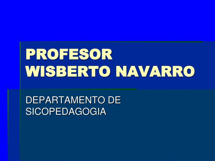 Profesor wisberto navarro