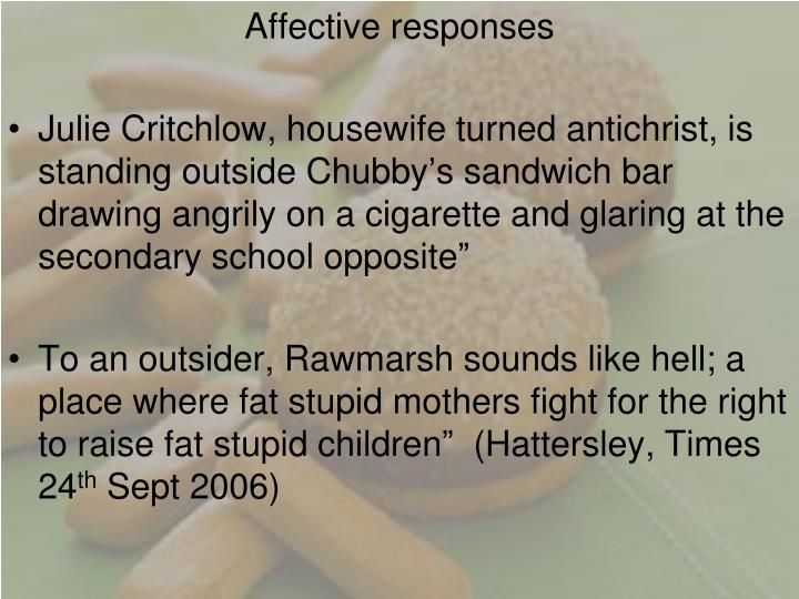 Affective responses